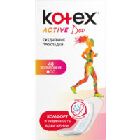 Kotex Active DEO экстратонкие ежедневные Прокладки 48 шт