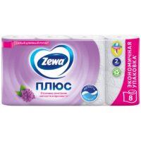 Zewa Плюс Сирень 2-х слойная туалетная бумага 8 рулонов