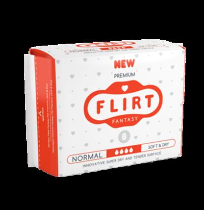Flirt Premium Soft&Dry normal 4 капли Прокладки 8 шт