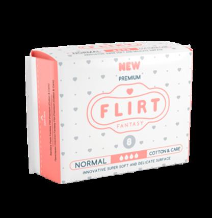 Flirt Premium Cotton&Care normal 4 капли Прокладки 8 шт