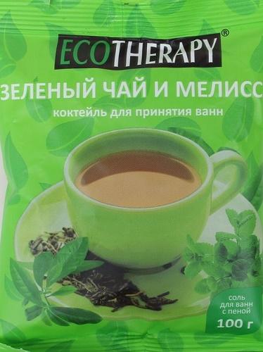 Eco Therapy Зелёный чай и мелисса морская соль + пена коктейль для принятия ванн 100 г