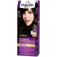 Palette 1-0 черный интенсивный цвет стойкая крем - краска для волос