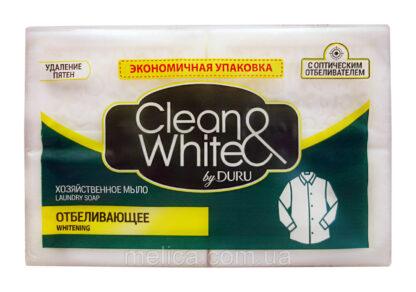 Clean & White by DURU отбеливающее хозяйственное мыло 4*125 г