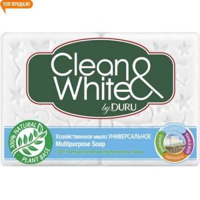 Clean & White by DURU универсальное хозяйственное мыло 4*125 г