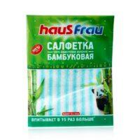 Haus Frau для сухой и влажной уборки 18*23 см Бамбуковая салфетка 1 шт