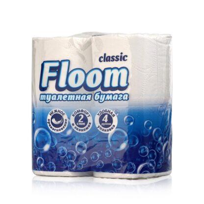 Floom Classic 2-х слойная туалетная Бумага 4 рулона
