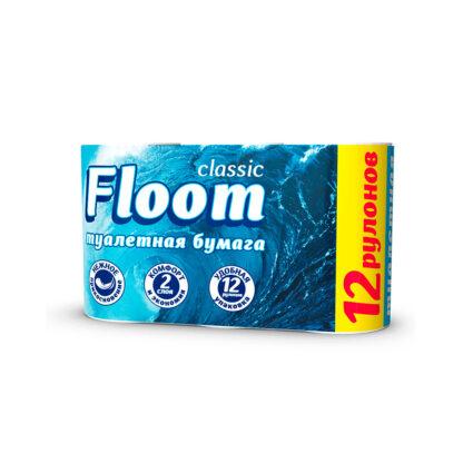Floom Classic 2-х слойная туалетная Бумага 12 рулонов