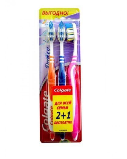 Colgate зиг-заг средней жесткости Зубная щетка 2+1 шт