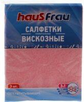 Haus Frau Супервпитывающие 30*38 см Универсальные салфетки из вискозы 3 шт