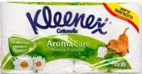 Kleenex aroma care Нежная Ромашка Туалетная бумага 3-х слойная 8 рулонов