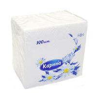 Карина 24 * 24 см однослойные Бумажные салфетки 100 шт