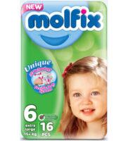 MOLFIX подгузники 6 (15 +) 16 шт