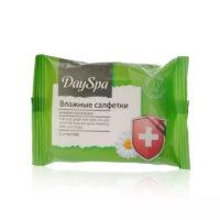 Day Spa Camomile Антибактериальные Влажные салфетки 15 шт