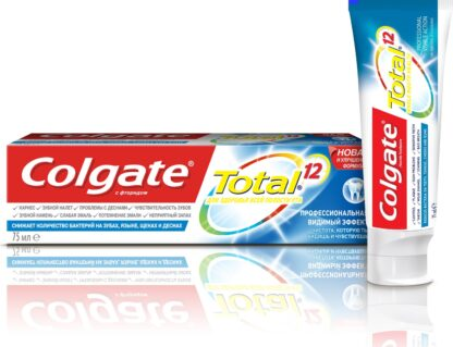 Colgate Total 12 Профессиональная Видимый эффект Зубная паста 75 мл