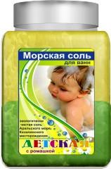 Aromika Детская с ромашкой Морская соль для ванны 900 г