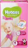 Huggies Ultra comfort подгузники для девочек 4 (8-14 кг) 19 шт