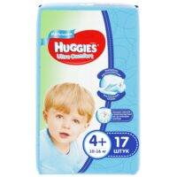 Huggies Ultra comfort подгузники для мальчиков 4+ (10-16 кг) 17 шт