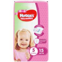 Huggies Ultra comfort подгузники для девочек 5 (12-22 кг) 15 шт