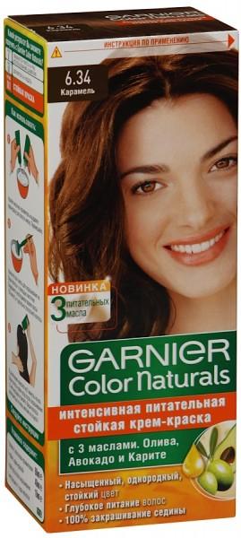 Garnier Color Naturals 6.34 карамель крем-краска для волос