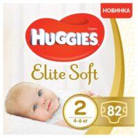 Huggies Elite soft подгузники 2 (4-6 кг) 82 шт