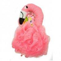 Bambolina Фламинго 2+ детская мочалка для тела