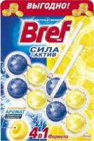 Bref Сила-Актив лимонная свежесть Чистящее средство для унитаза 2*50 г