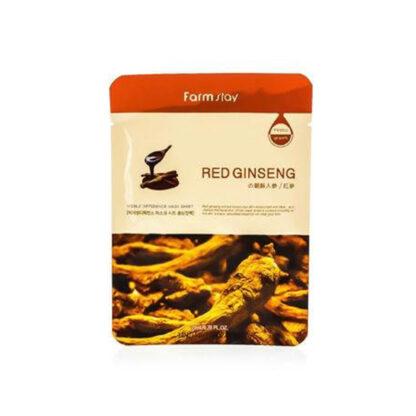 Farm Stay Red ginseng с экстрактом красного женшеня Тканевая маска для лица