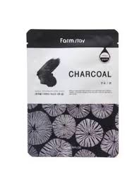 Farm Stay Charcoal с экстрактом древесного угля Тканевая маска для лица