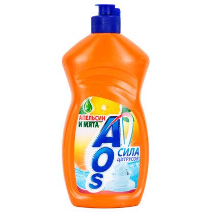AOS Апельсин и мята средство для мытья посуды 450 мл