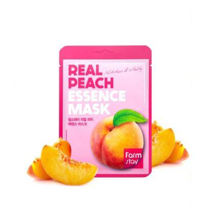 Farm Stay REAL Peach с эссенцией персика тканевая Маска для лица