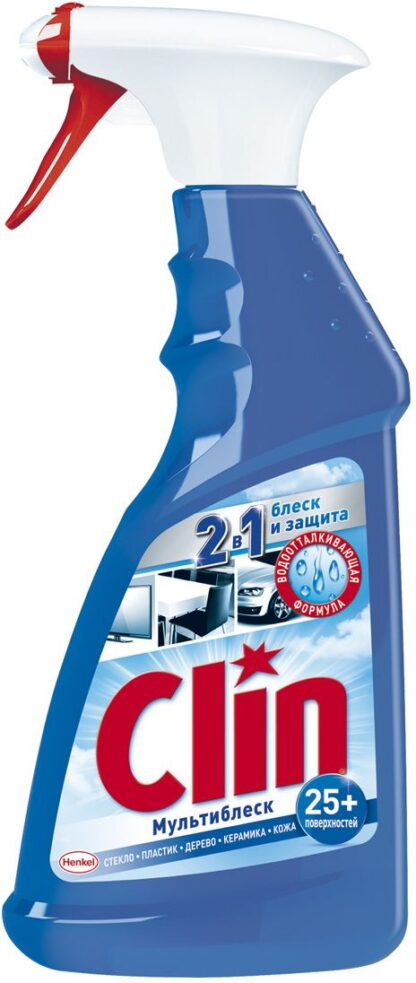 Clin Мультиблеск 2 в 1 Чистящее средство универсальное с триггером 500 мл