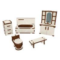 Polly чудо-игрушки Ванная комната деревянный конструктор