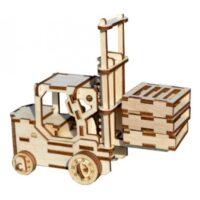 Polly чудо-игрушки Погрузчик деревянный конструктор