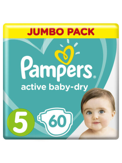 Pampers active baby-dry подгузники 5 (11-16 кг) 60 шт