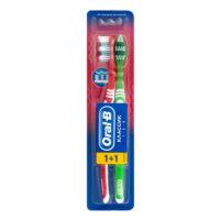Oral-B Классик средней жесткости зубная щетка 1+1 шт