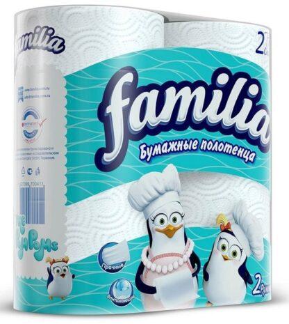 Familia 2-х слойные бумажные полотенца 2 рулона