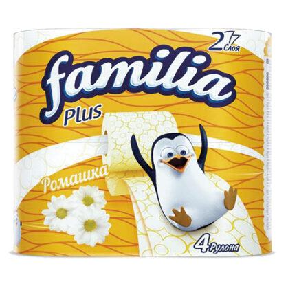 Familia ромашка 2-х слойная Туалетная бумага 4 рулона